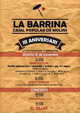 3r aniversari del Casal LaBarrina!
